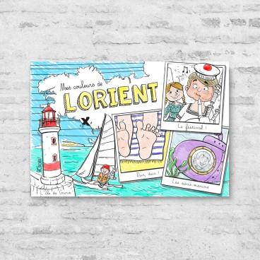 Carte postale à colorier Lorient