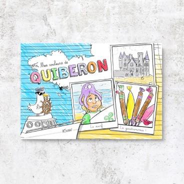Carte postale à colorier de Quiberon