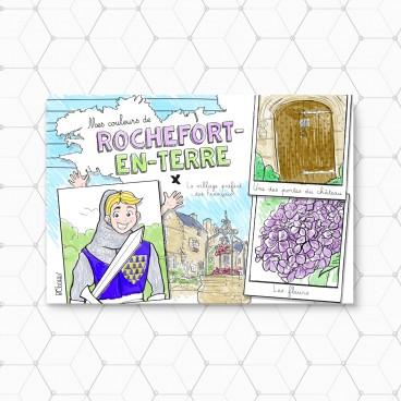 Carte postale à colorier de Rochefort-en-Terre