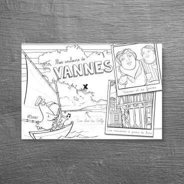 Carte postale à colorier de Vannes