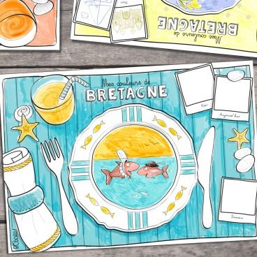 Sets de table à colorier Table de Bretagne