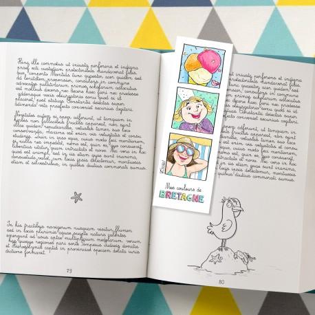 Marque-pages à colorier fille