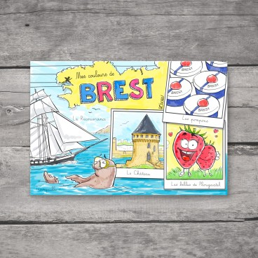 Carte postale Brest