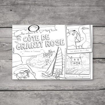 Carte postale Côte de Granit Rose