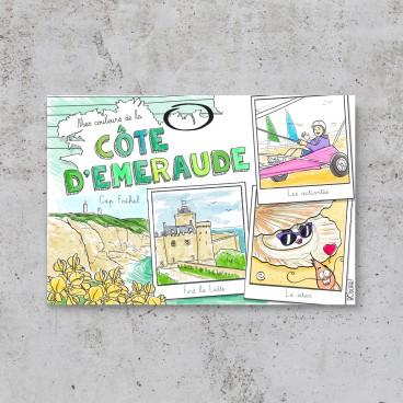Carte postale Côte d'Emeraude