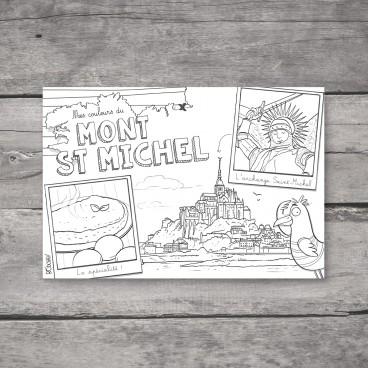 Carte postale Mont-Saint-Michel