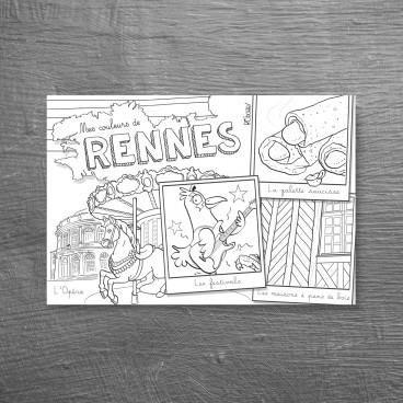Carte postale Rennes 1