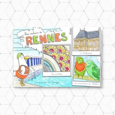 Carte postale Rennes 2