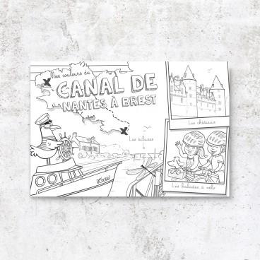 Carte postale Canal de Nantes à Brest