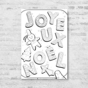 Carte à colorier Joyeux Noel