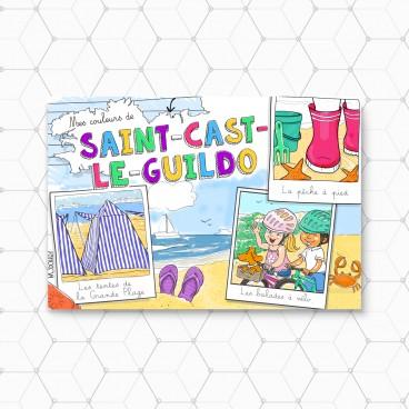 Carte postale Saint Cast à colorier