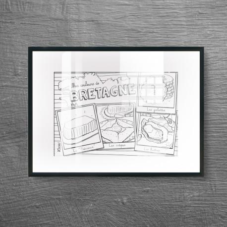 Carte postale gastronomie bretonne