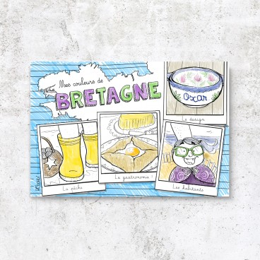 "Carte postale Bretagne ""l'incontournable"""