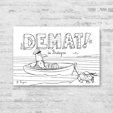 Carte postale Bienvenue en Bretagne Demat