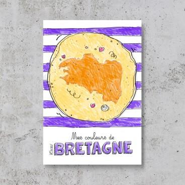 Carte postale crêpe bretonne