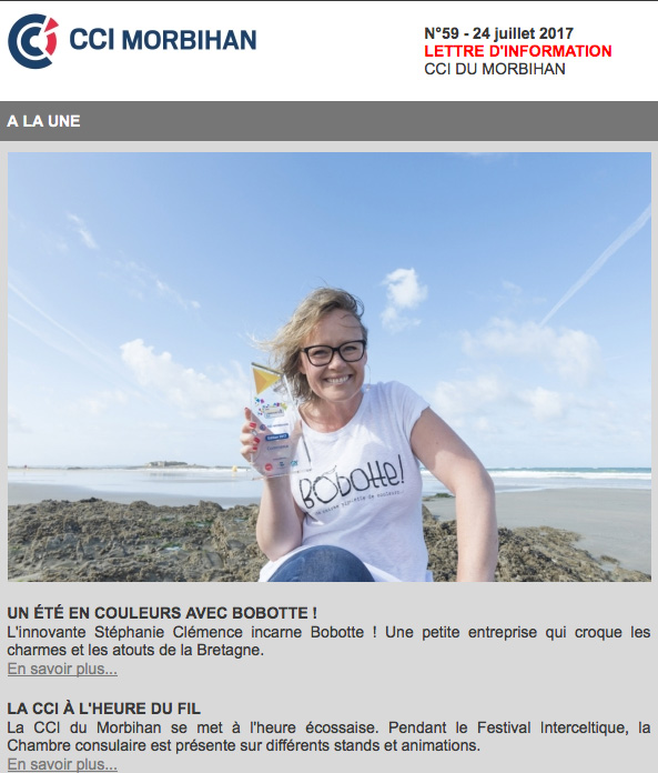 Newsletter de la CCI du Morbihan du 21-07-17