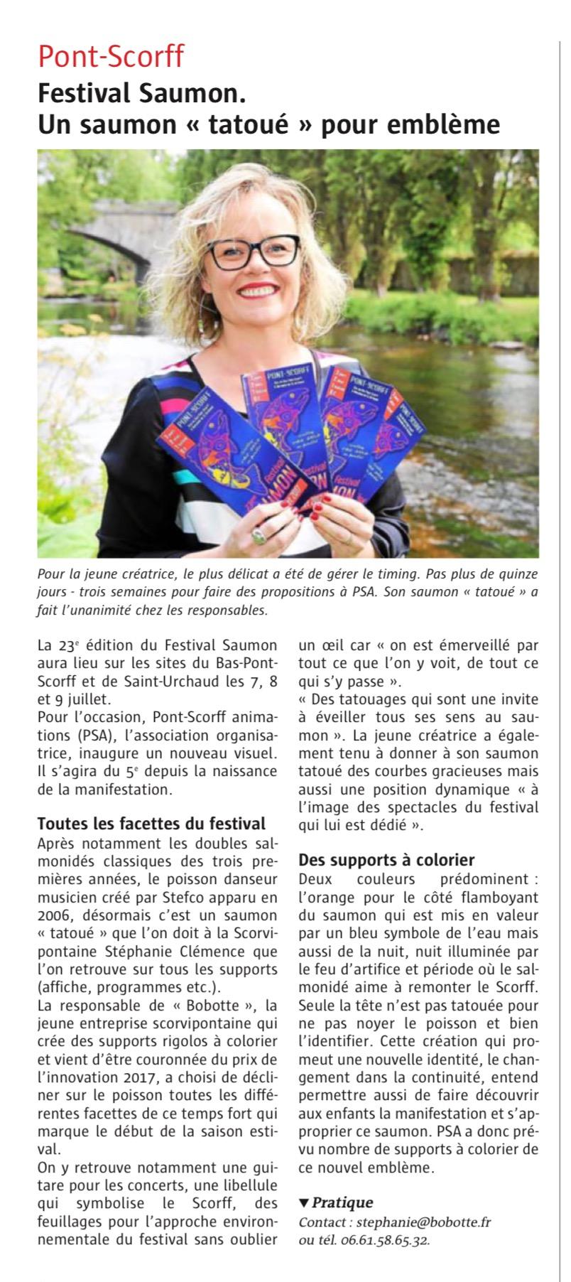 Article Télégramme 04/07/2017