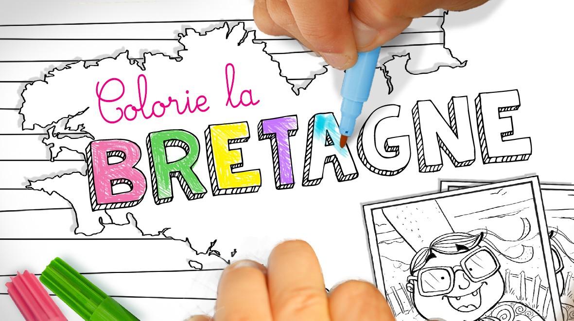 Coloriage de la Bretagne